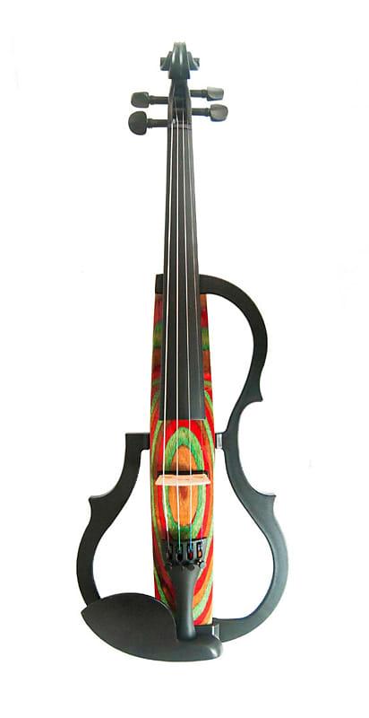 GENEVA ADVANCED-Electric-Violin-GVE-N029-RED-GREEN